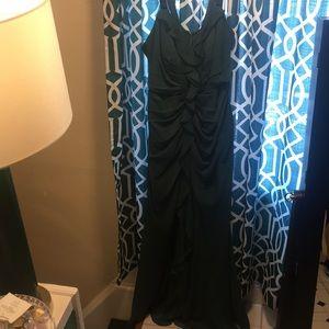 Emerald green evening gown/bridesmaids dress